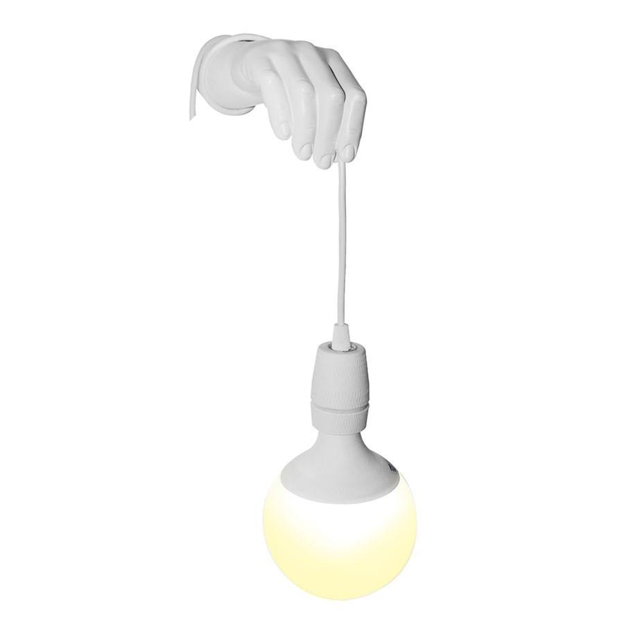 lampe applique murale main blanche. Black Bedroom Furniture Sets. Home Design Ideas