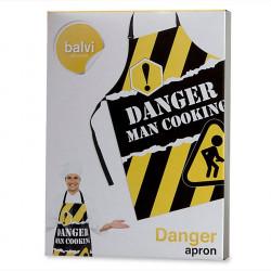 Tablier De Cuisine Rigolo Pour Homme Danger Man Cooking