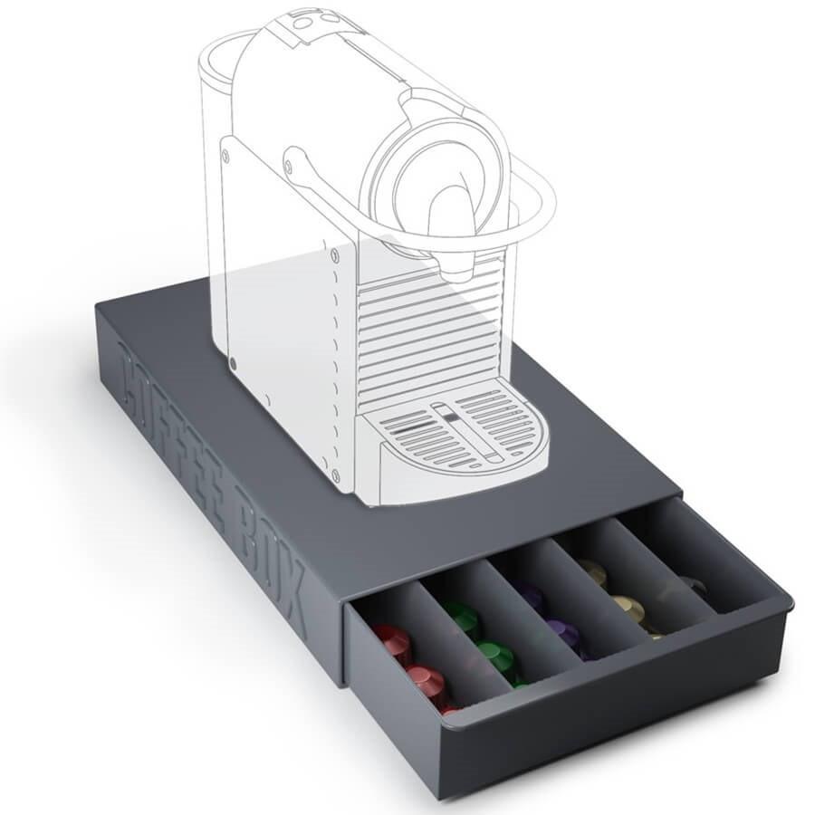 tiroir range capsules et dosettes caf toutes marques coffee box. Black Bedroom Furniture Sets. Home Design Ideas