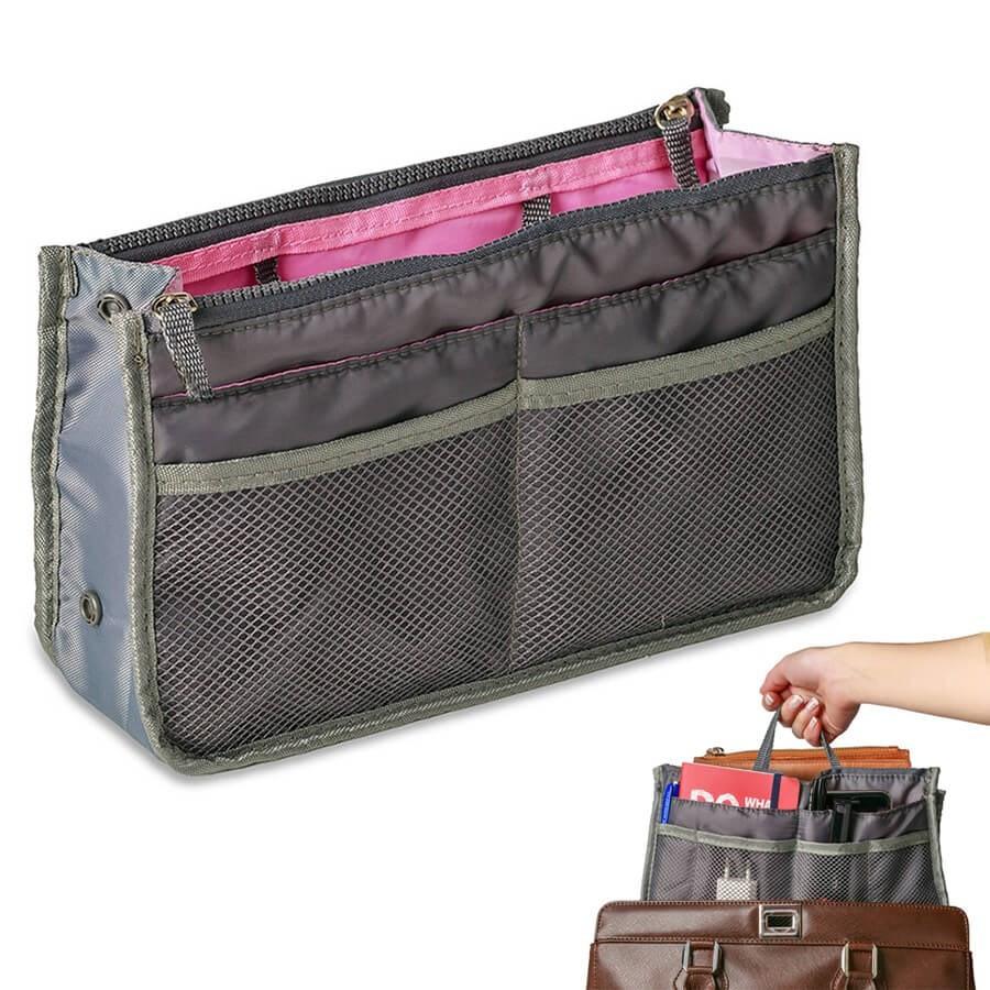Organiseur multi poches pour intérieur de sac à main
