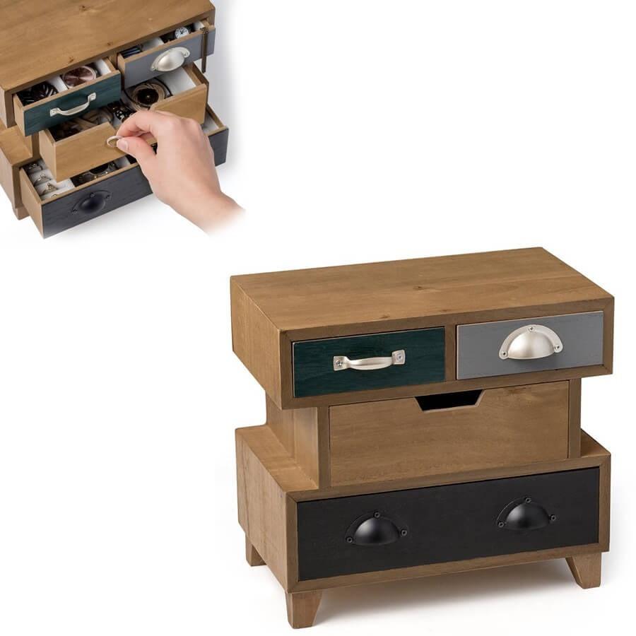 boite bijoux en bois originale stack. Black Bedroom Furniture Sets. Home Design Ideas