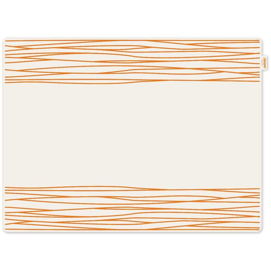 set de table silicone jay contento lignes oranges. Black Bedroom Furniture Sets. Home Design Ideas