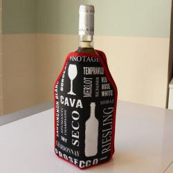 manchon r frig rant pour bouteille rouge d co vin. Black Bedroom Furniture Sets. Home Design Ideas