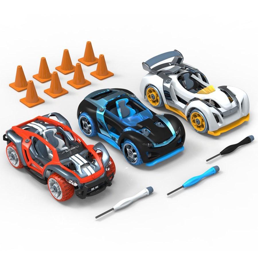 petites voitures assembler modarri combo pack de 3 voitures. Black Bedroom Furniture Sets. Home Design Ideas