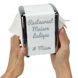 distributeur de serviettes en papier personnalis blanc. Black Bedroom Furniture Sets. Home Design Ideas