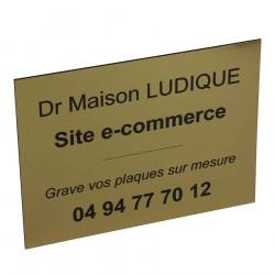 plaque profession lib rale dor e 20x15 cm personnaliser. Black Bedroom Furniture Sets. Home Design Ideas