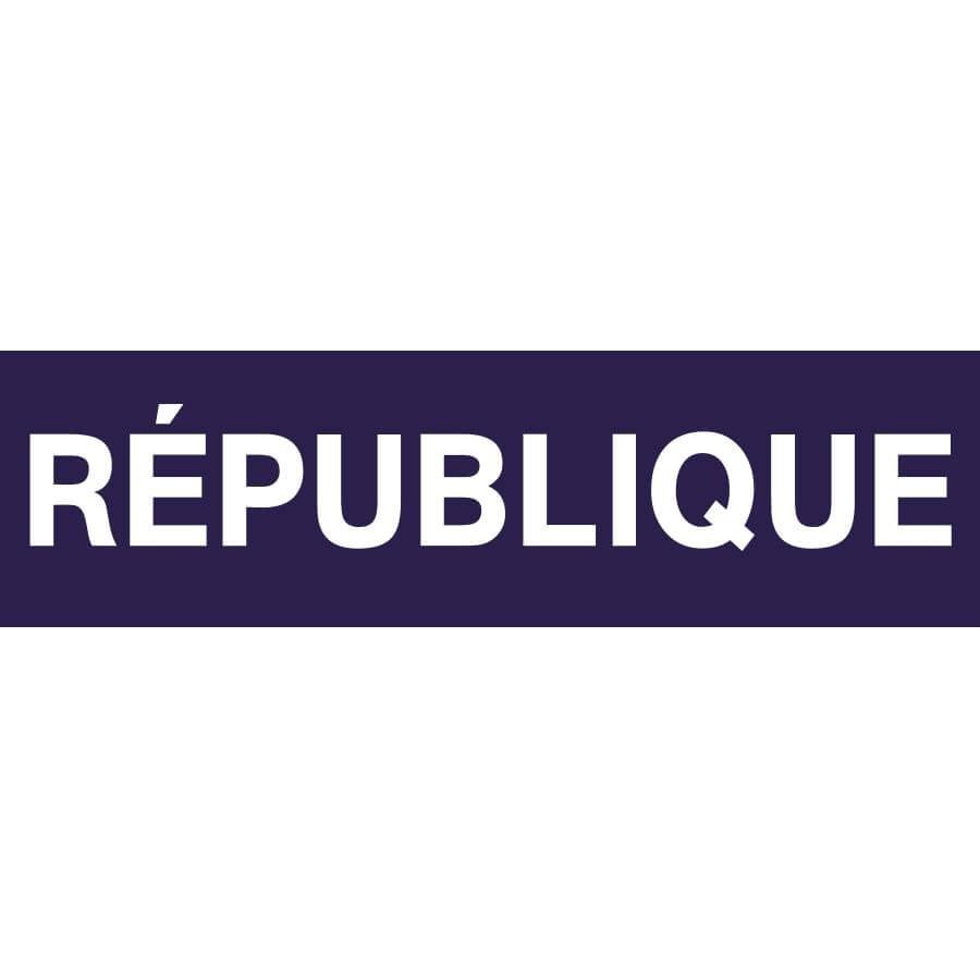 Plaque Metro Parisien Deco panneau déco métro république