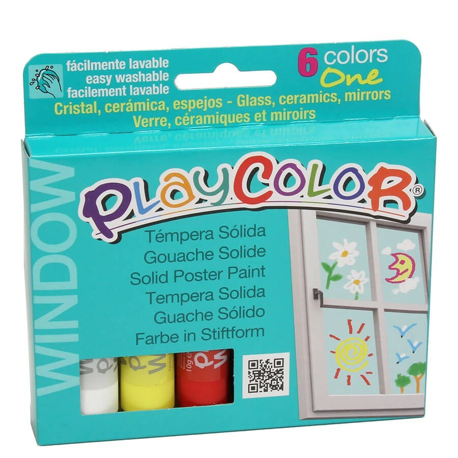 6 sticks de gouache solide playcolor one peinture pour. Black Bedroom Furniture Sets. Home Design Ideas