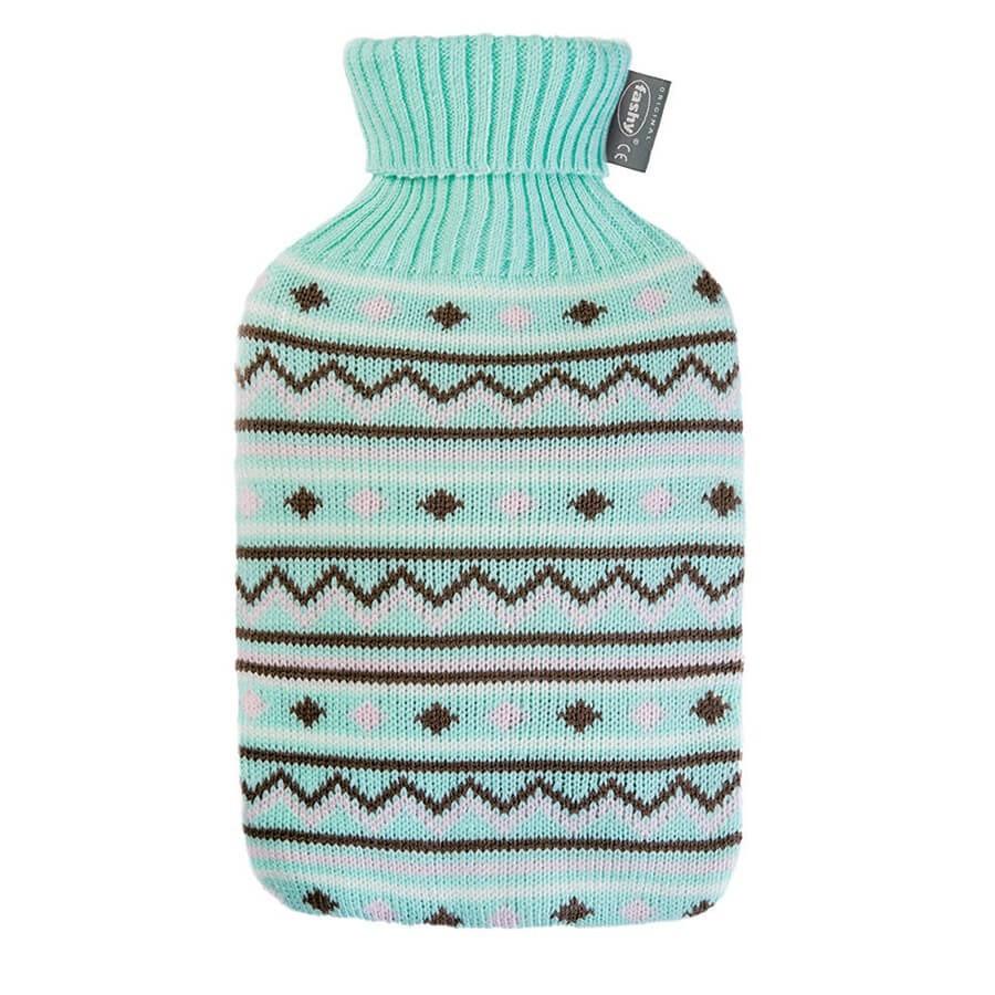 Bouillotte eau avec housse tricot couleur fashy for Housse bouillotte tricot