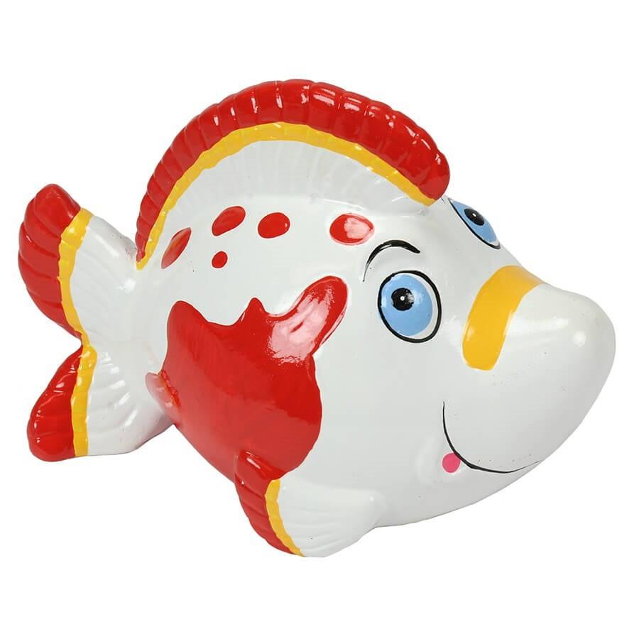Tirelire poisson rigolo blanc - Poisson rouge rigolo ...