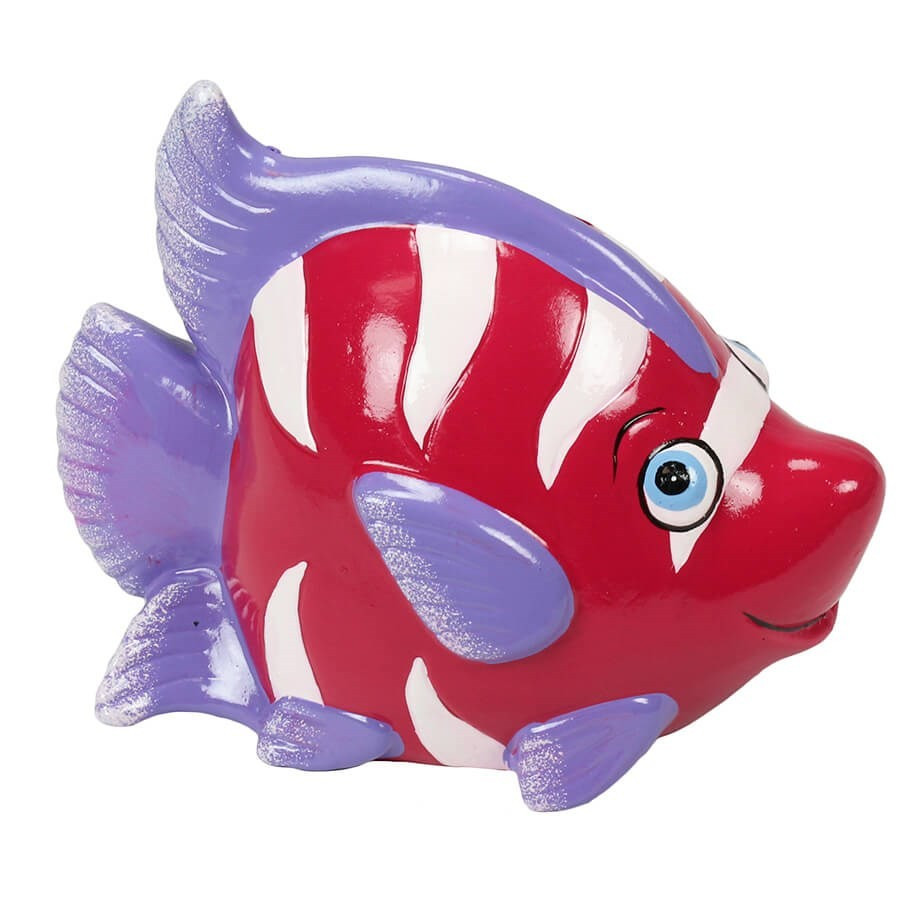 Tirelire poisson rigolo rose violet - Poisson rouge rigolo ...