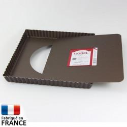 moule tarte carr e fond amovible gobel 23 cm. Black Bedroom Furniture Sets. Home Design Ideas