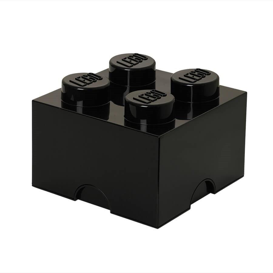 Boite De Rangement Lego Carree 4 Plots Noir