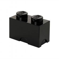 boite de rangement lego 2 plots noir. Black Bedroom Furniture Sets. Home Design Ideas