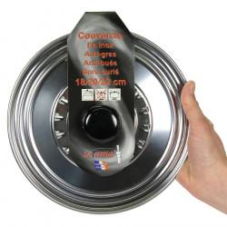 Servierschale inox chromé et avec anses 22 cm