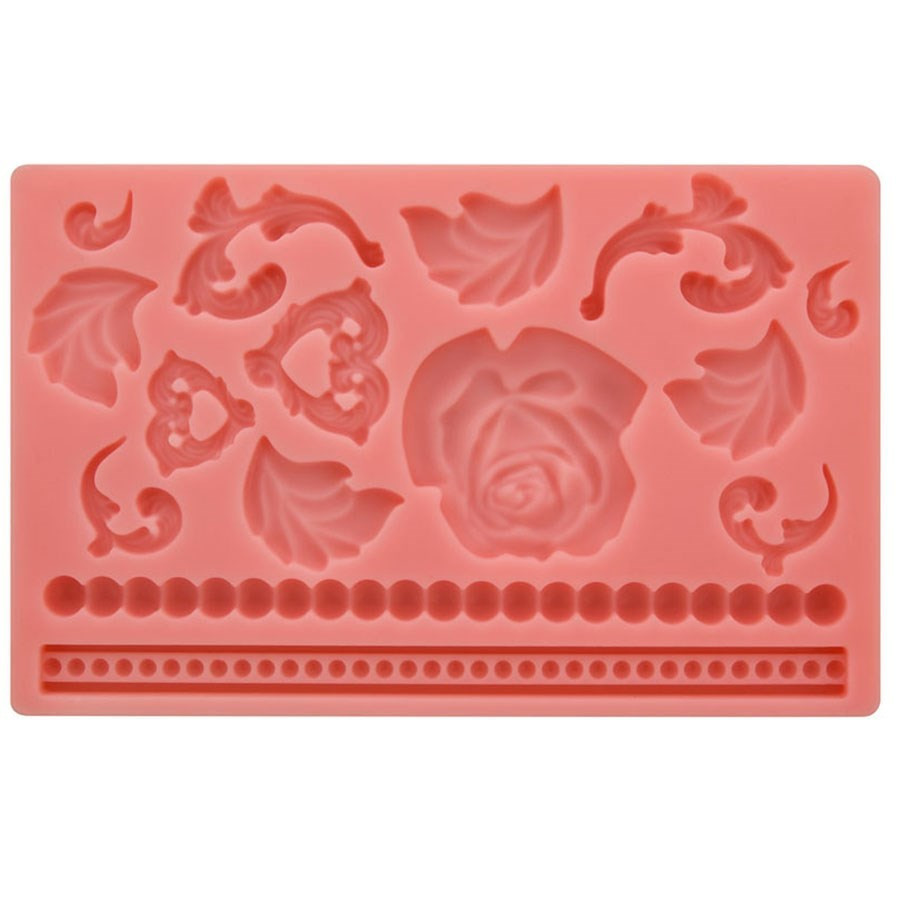 moule pour d cors p te sucre et cake design roses. Black Bedroom Furniture Sets. Home Design Ideas