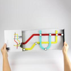 pat re murale design m tro subway umbra. Black Bedroom Furniture Sets. Home Design Ideas