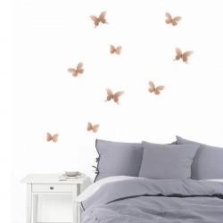 Deco Murale Metal Umbra Papillons 3d Cuivre Mariposa