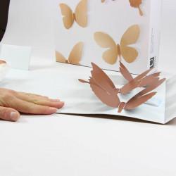Déco Murale Métal Umbra Papillons 3d Cuivre Mariposa