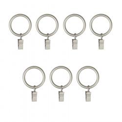 7 anneaux à rideau avec pince pour tringle à rideau 25mm