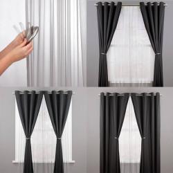 embrasse rideau aimant e noir x 2. Black Bedroom Furniture Sets. Home Design Ideas