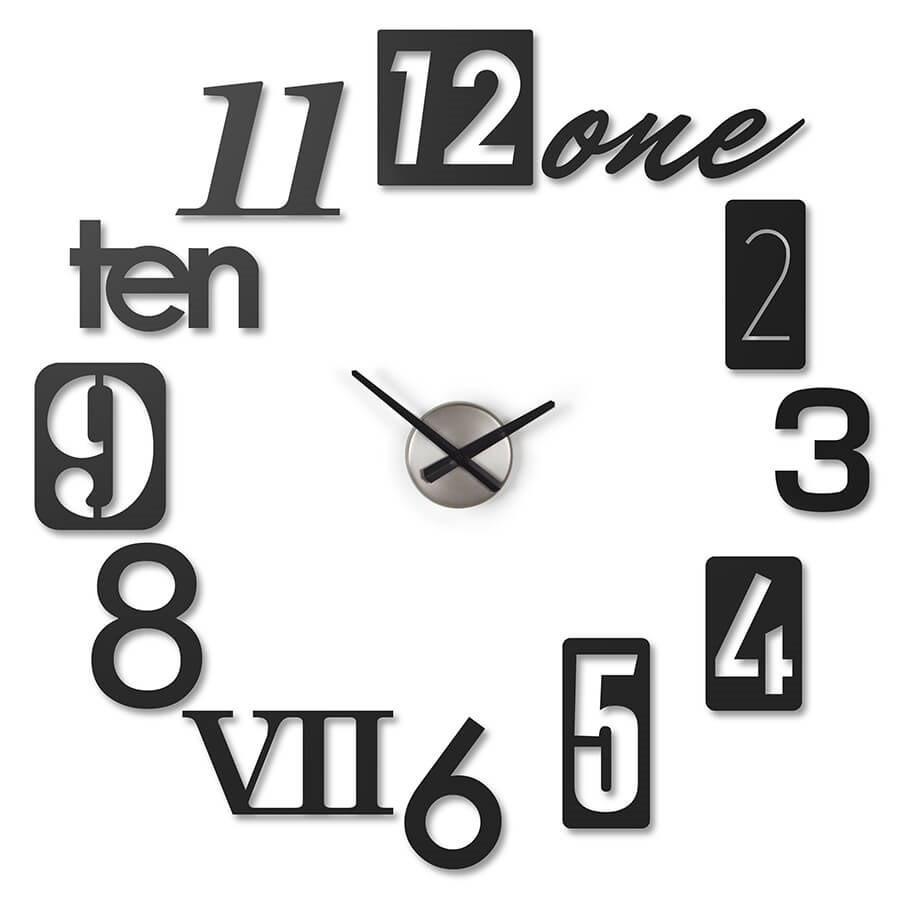 horloge murale originale numbra noire. Black Bedroom Furniture Sets. Home Design Ideas