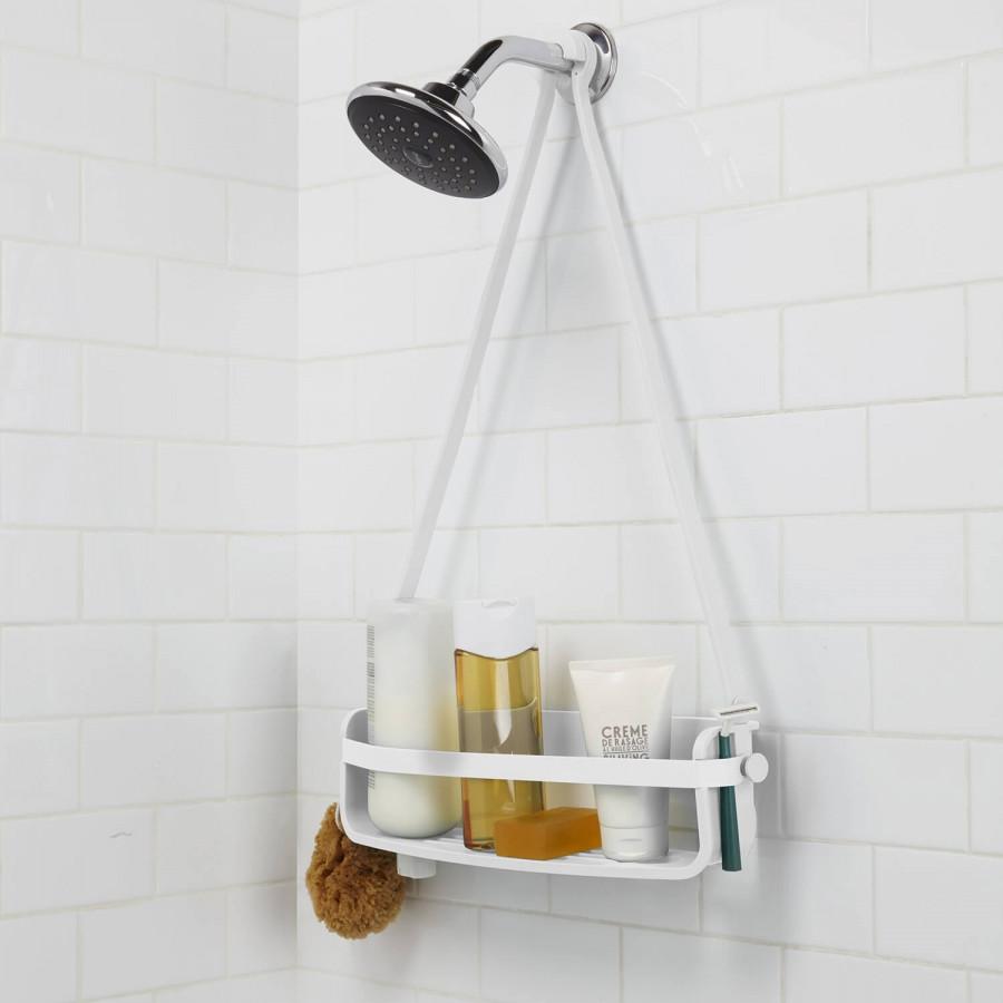 etag re de douche suspendre flex umbra blanc 1 niveau. Black Bedroom Furniture Sets. Home Design Ideas