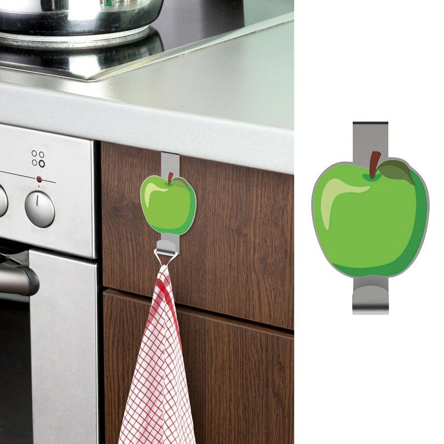 crochet suspendre pour porte de cuisine pomme. Black Bedroom Furniture Sets. Home Design Ideas