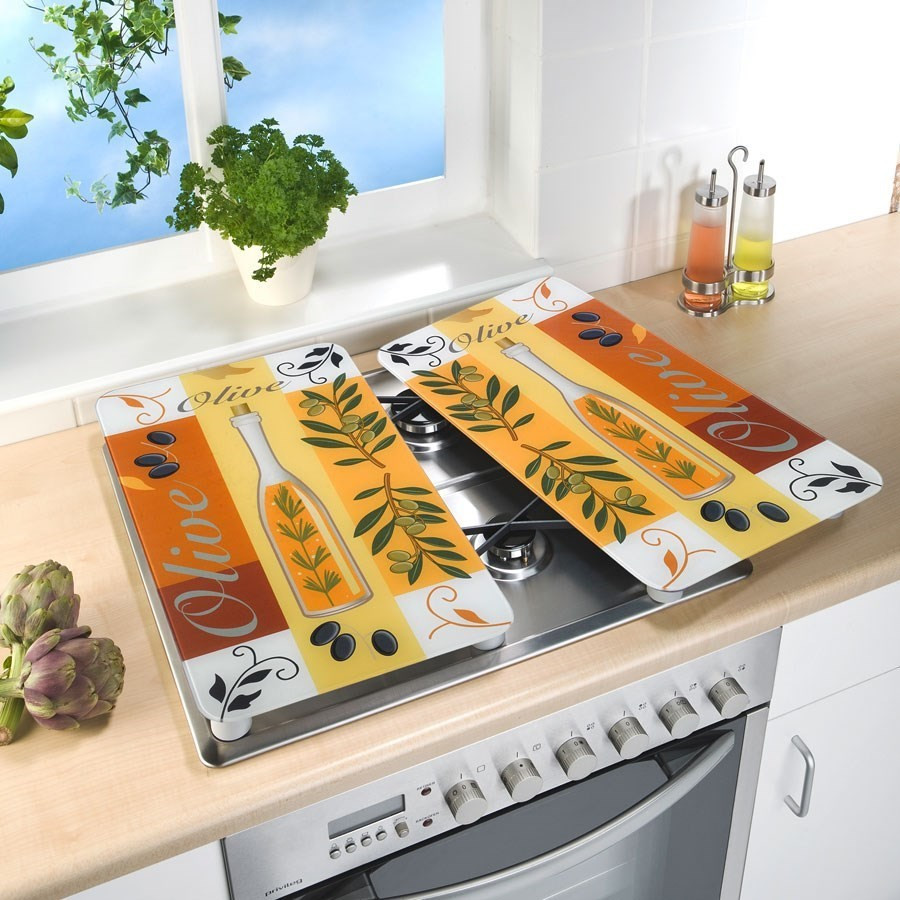 2 couvre plaques de cuisson universels olives wenko. Black Bedroom Furniture Sets. Home Design Ideas