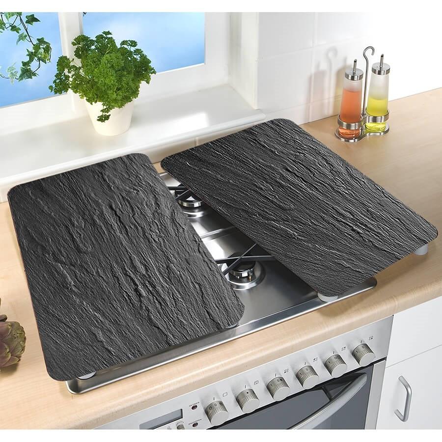 2 couvre plaques de cuisson universels ardoise wenko. Black Bedroom Furniture Sets. Home Design Ideas