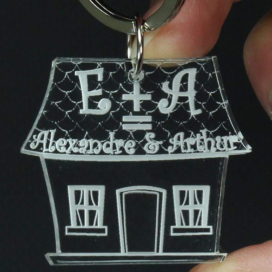 porte cl famille grav personnalis maison bonheur des. Black Bedroom Furniture Sets. Home Design Ideas