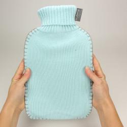 bouillotte eau fashy avec housse tricot bleu ciel 2 litres. Black Bedroom Furniture Sets. Home Design Ideas