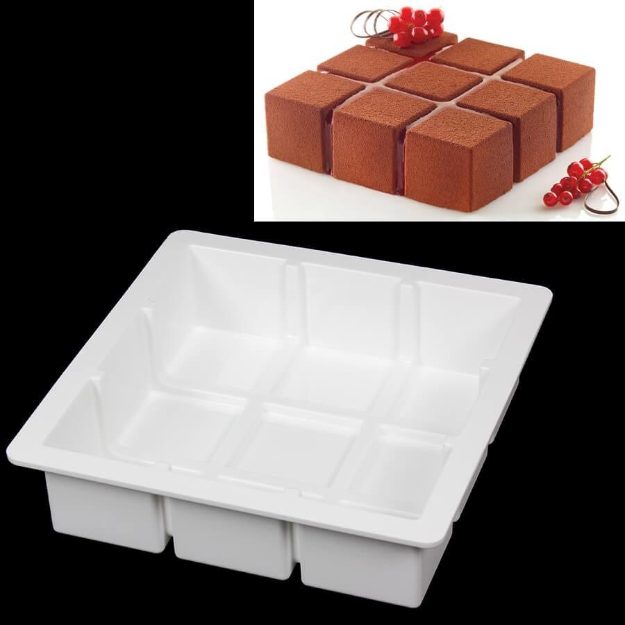 moule silicone carr cubik silikomart professional. Black Bedroom Furniture Sets. Home Design Ideas