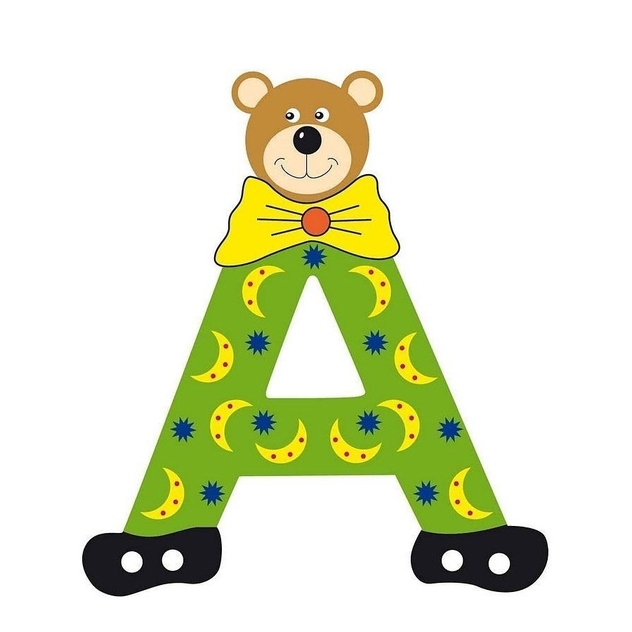 Lettre alphabet b b en bois ourson a - Lettre alphabet winnie l ourson ...