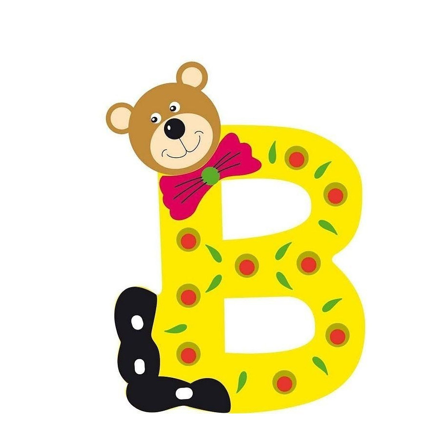 Lettre alphabet b b en bois ourson b - Lettre alphabet winnie l ourson ...