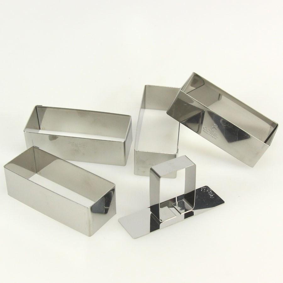 coffret 4 nonettes rectangles inox 9 cm h40 poussoir gobel. Black Bedroom Furniture Sets. Home Design Ideas