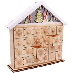 d cor de b che de no l en bois personnaliser p re no l traineau. Black Bedroom Furniture Sets. Home Design Ideas