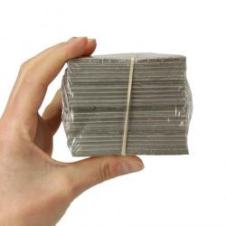 Emballage Papier Métallisé Carré Or 8x8 Cm Pour Chocolats X1000