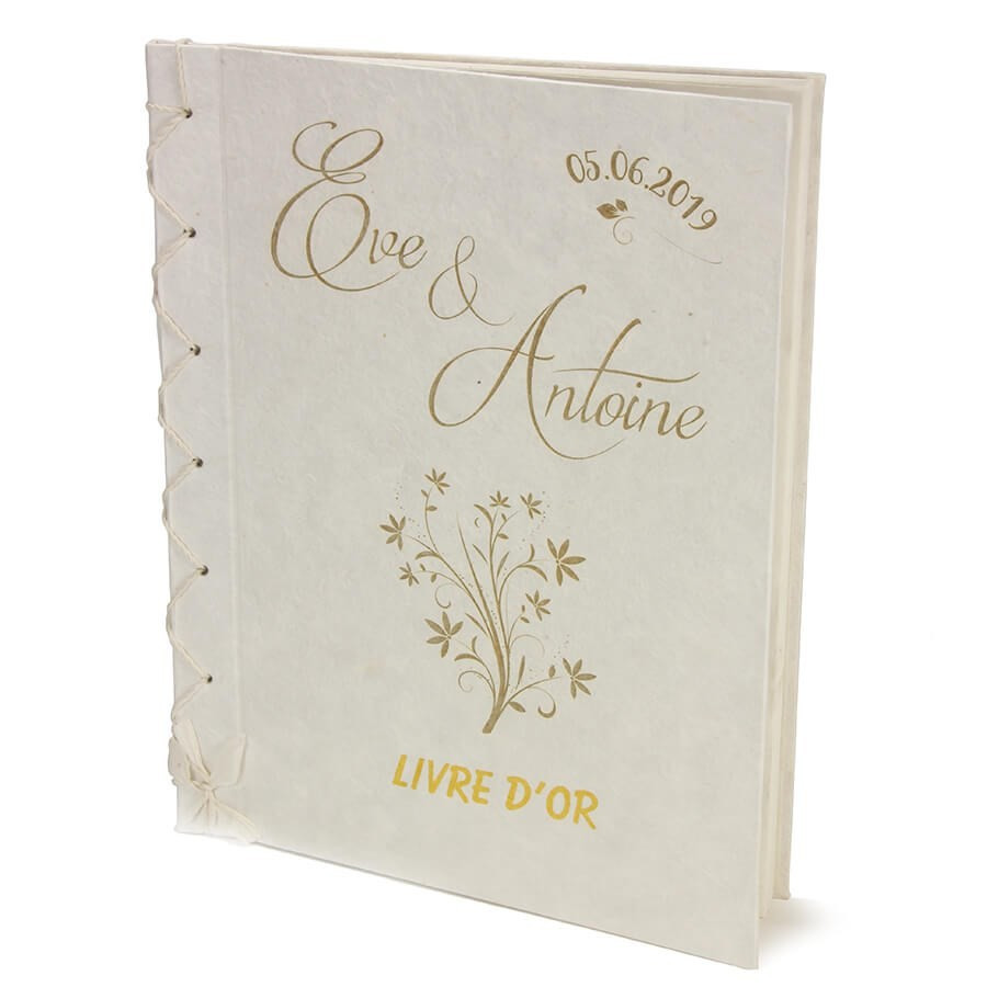 Livre D Or Mariage Chic Personnalise Grand Format Relie