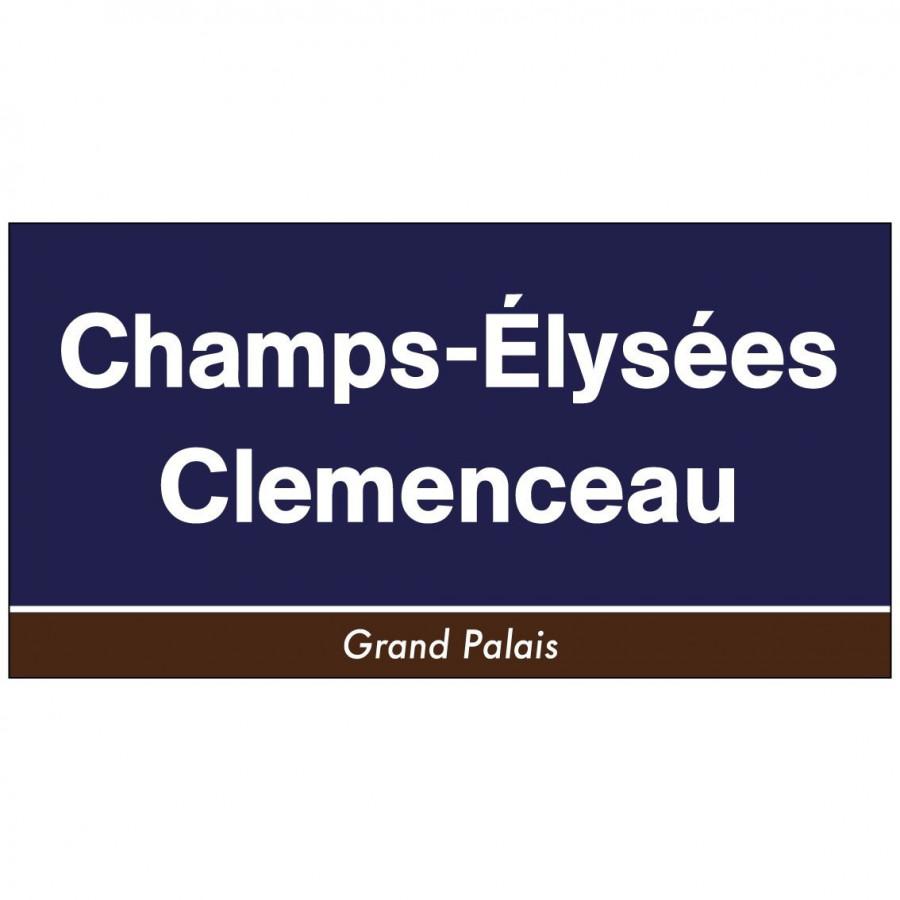 Panneau déco station métro Champs Elysées Paris