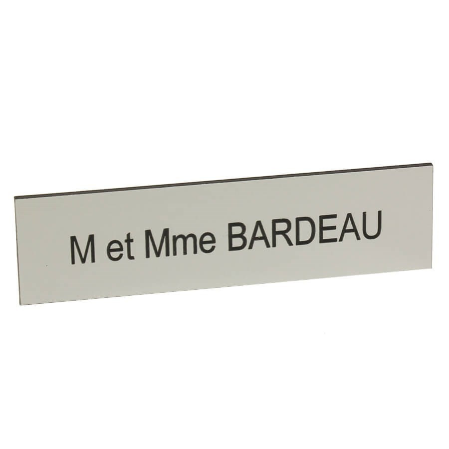 plaque nom pour boîte aux lettres personnalisée - argenté (aluminium)
