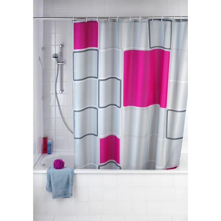 Rideau de douche anti moisissure wenko abstract - Rideau de douche anti moisissure ...