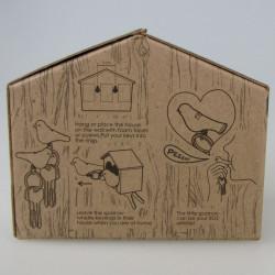 range porte cl s mural duo oiseaux sparrow qualy blanc vert. Black Bedroom Furniture Sets. Home Design Ideas