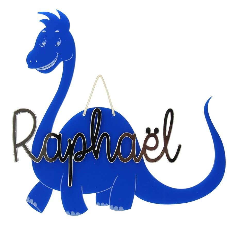 Plaque de porte chambre enfant avec pr nom dinosaure fabriqu france - Plaque de porte chambre enfant ...