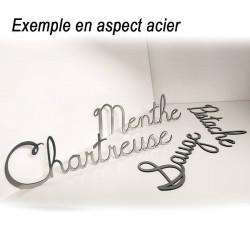 ... Nom De Maison Personnalisé Adhésif   21 à 30 Lettres   Argenté ...