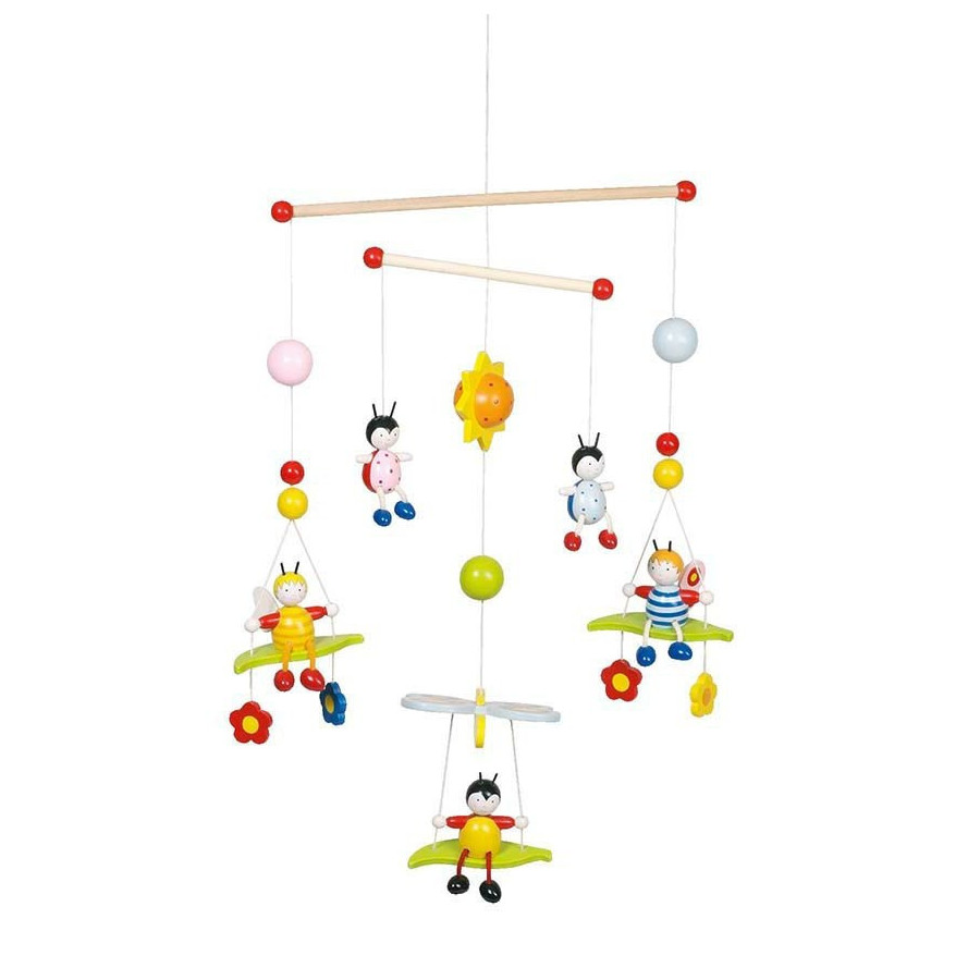 Mobile Bébé À Suspendre Au Plafond mobile bébé en bois goki - abeilles et coccinelles