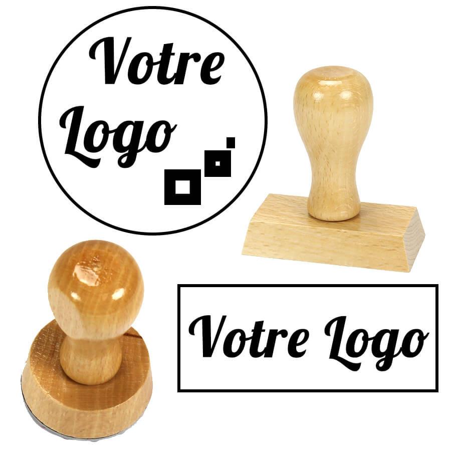 tampon bois personnalis avec logo et texte. Black Bedroom Furniture Sets. Home Design Ideas