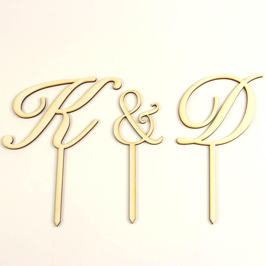 initiales pour d coration g teau mariage personnalis. Black Bedroom Furniture Sets. Home Design Ideas